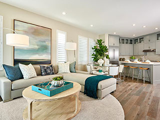 Residence 1 Living Room | Huntington at Boulevard in Dublin, CA | Brookfield Residential