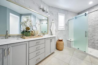Residence 1 Master Bath | Huntington at Boulevard in Dublin, CA | Brookfield Residential