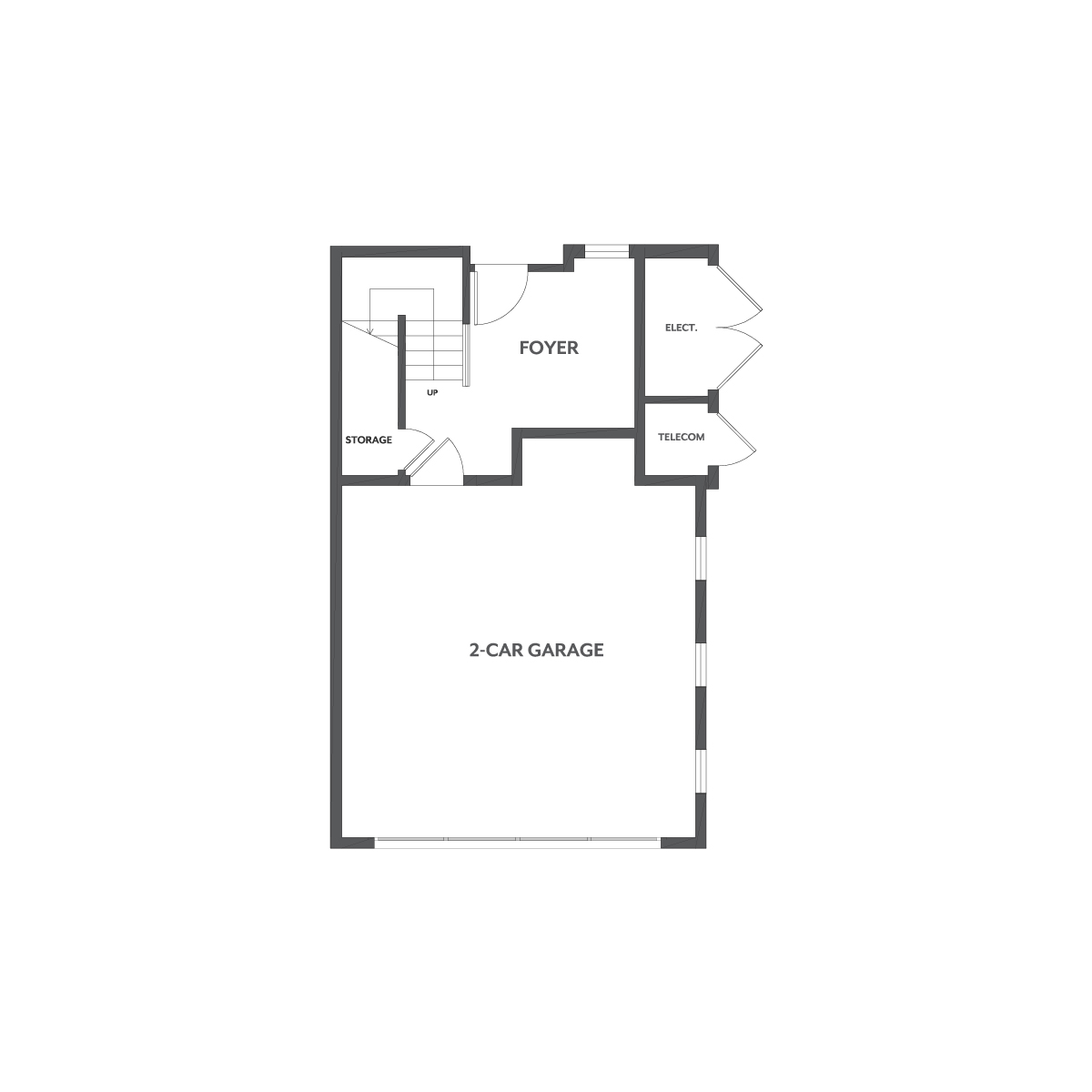 Residence 1 floor 1 plan | Wilshire at Boulevard in Dublin, CA | Brookfield Residential