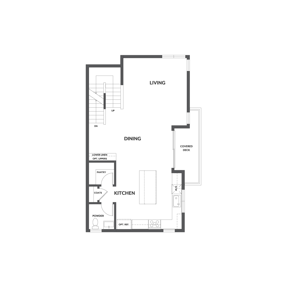 Residence 1 floor 2 plan | Wilshire at Boulevard in Dublin, CA | Brookfield Residential