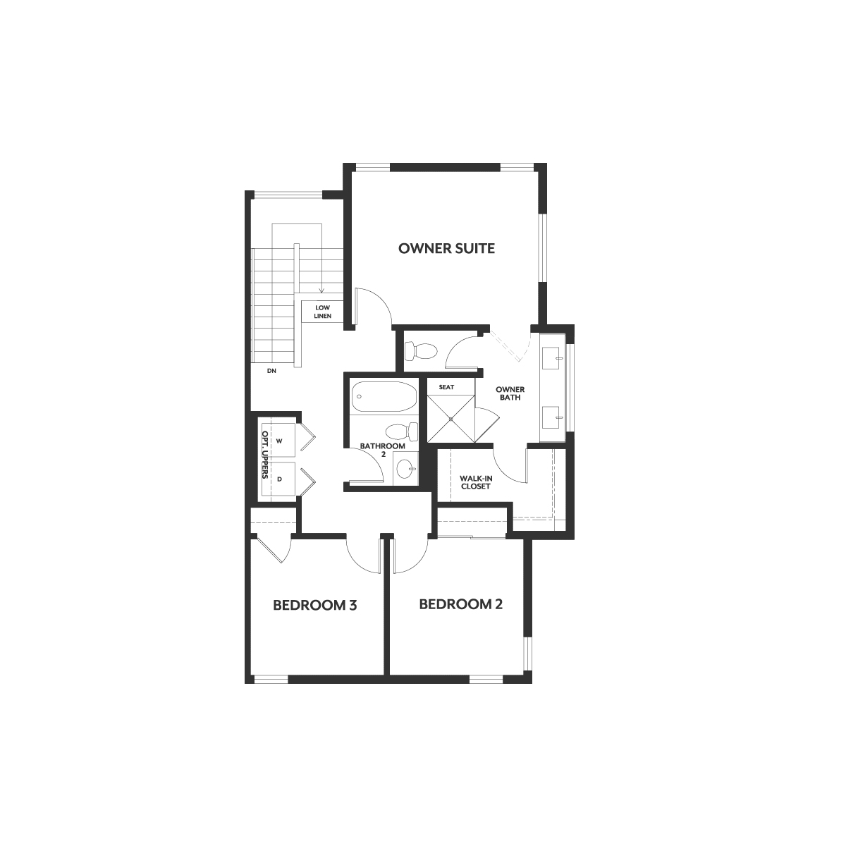 Residence 1 floor 3 plan | Wilshire at Boulevard in Dublin, CA | Brookfield Residential