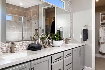 Residence 1 Master Bath | Wilshire at Boulevard in Dublin, CA | Brookfield Residential