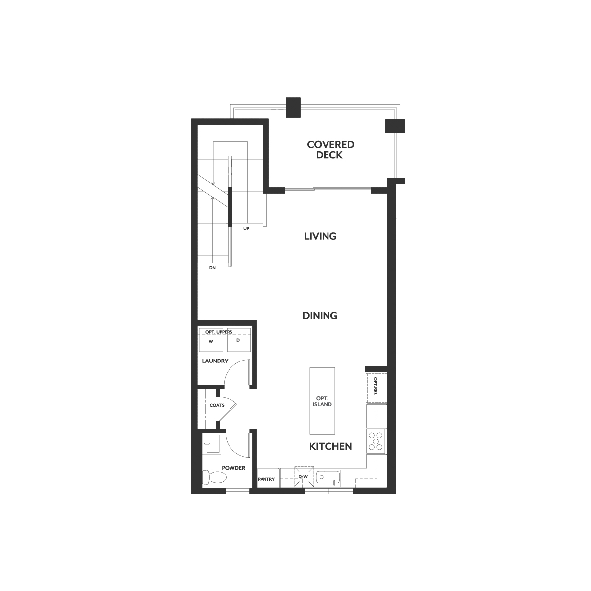 Residence 2A floor 2 plan | Wilshire at Boulevard in Dublin, CA | Brookfield Residential