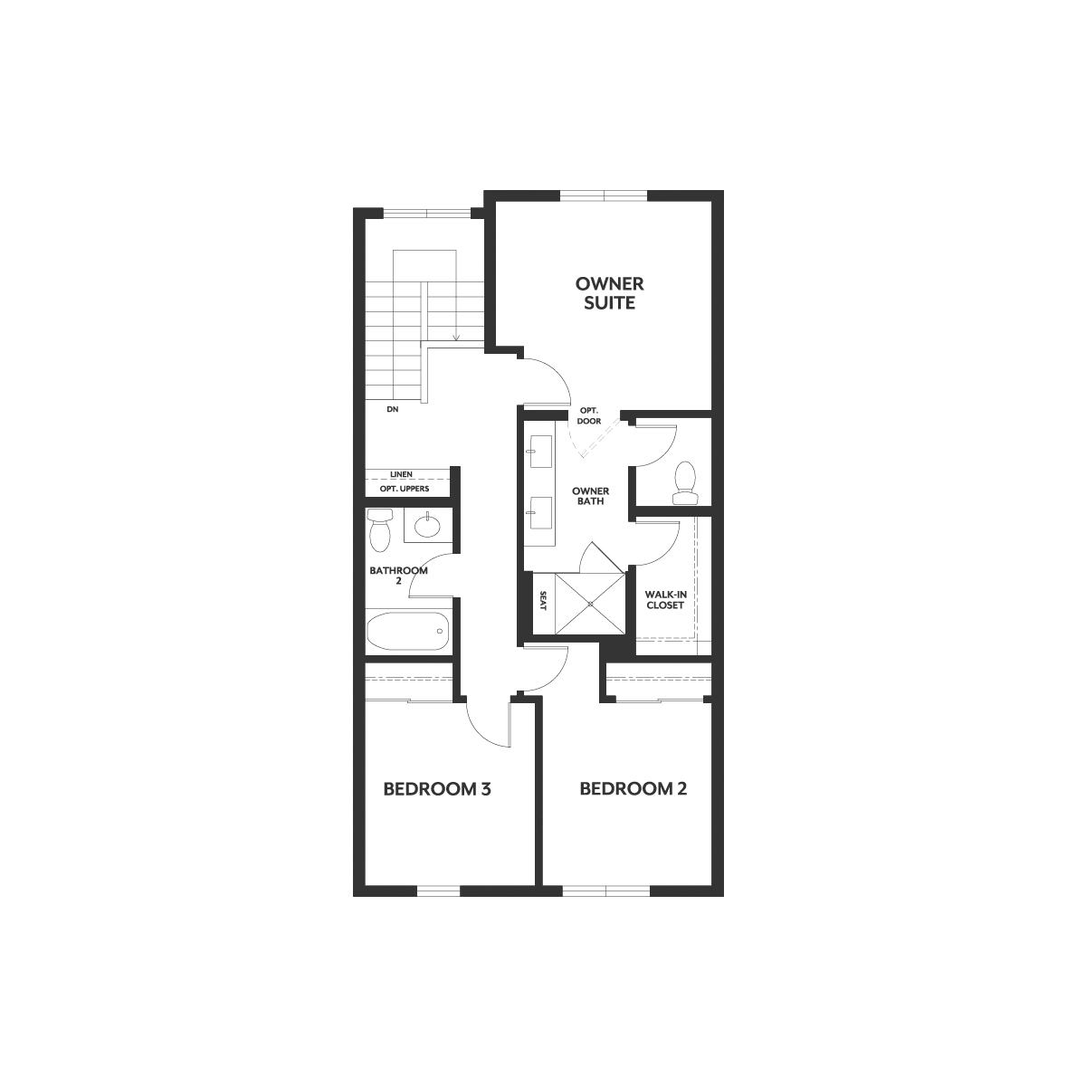 Residence 2A floor 3 plan | Wilshire at Boulevard in Dublin, CA | Brookfield Residential