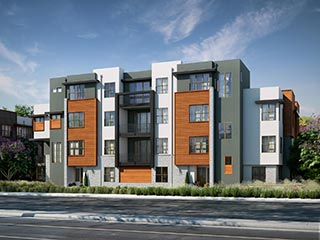 Exterior rendering | Wilshire at Boulevard in Dublin, CA | Brookfield Residential
