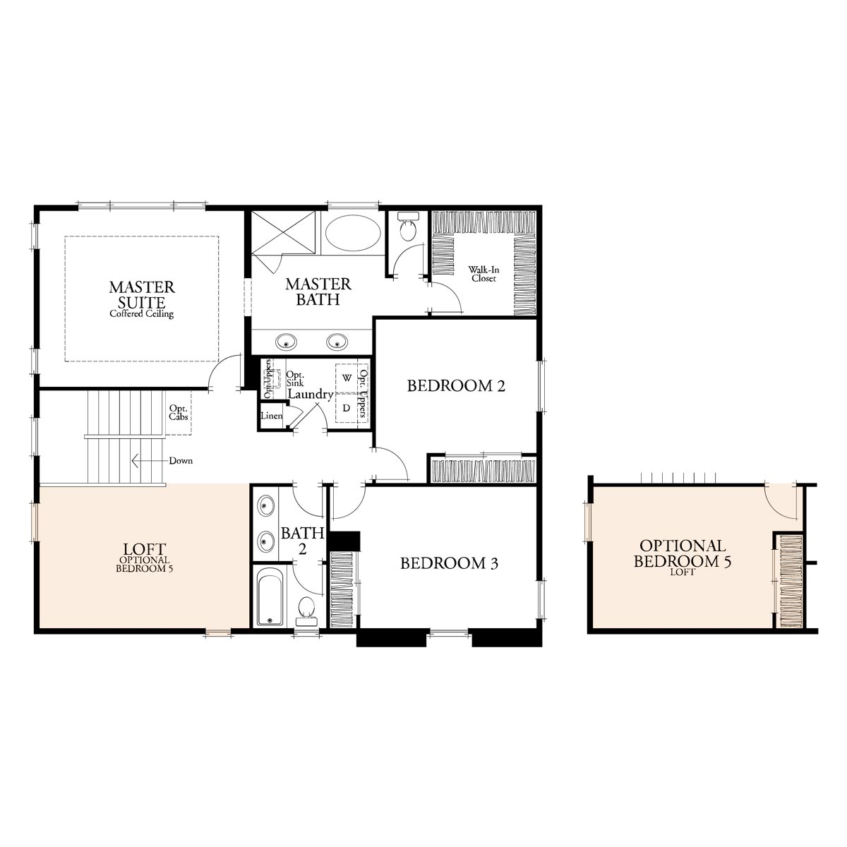 Residence 1 floor 2 plan | Citrus at Emerson Ranch in Oakley, CA | Brookfield Residential