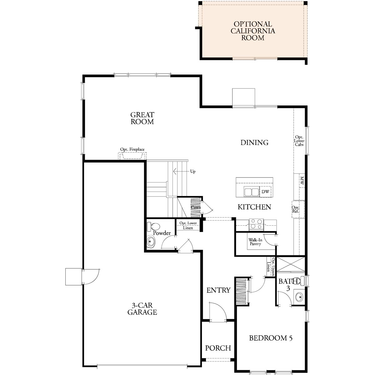 Residence 2 floor 1 plan | Citrus at Emerson Ranch in Oakley, CA | Brookfield Residential