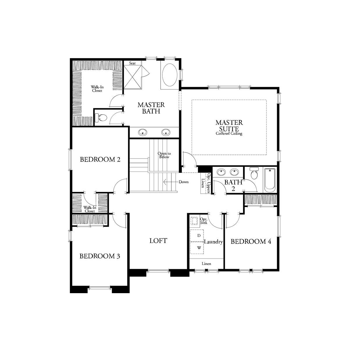 Residence 2 floor 2 plan | Citrus at Emerson Ranch in Oakley, CA | Brookfield Residential