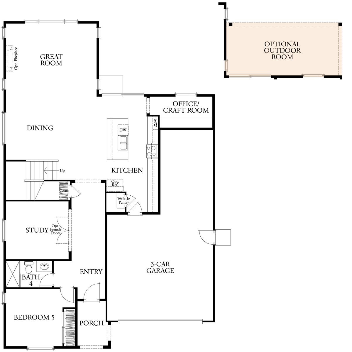 Residence 3 floor 1 plan | Citrus at Emerson Ranch in Oakley, CA | Brookfield Residential