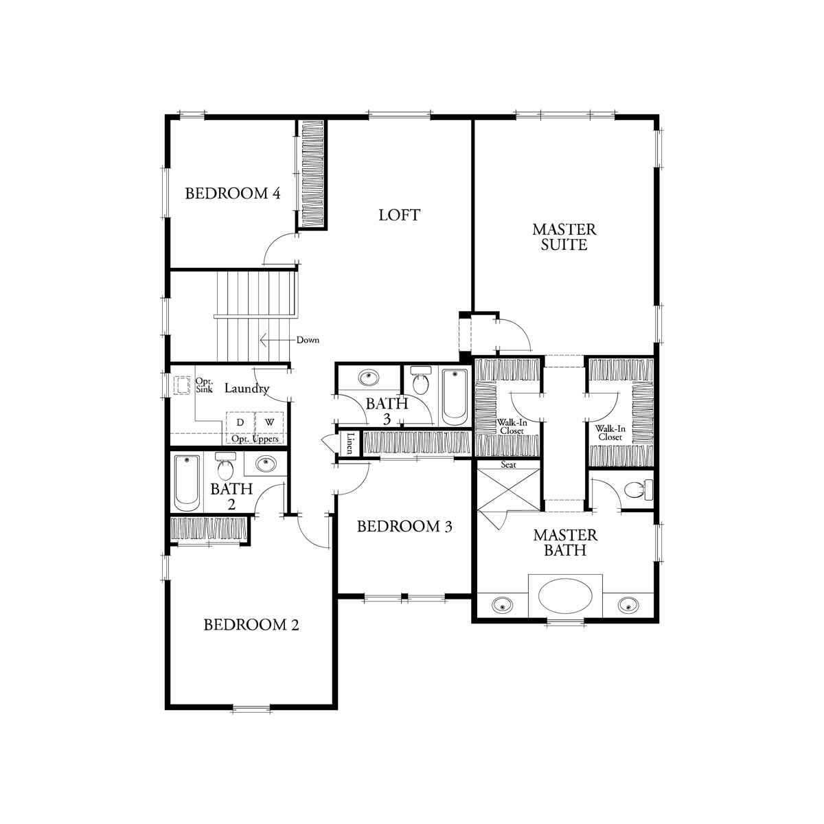 Residence 3 floor 2 plan | Citrus at Emerson Ranch in Oakley, CA | Brookfield Residential