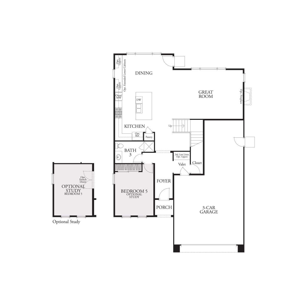 First floor residence 2 floor plan | Laurel at Emerson Ranch in Oakley, CA | Brookfield Residential