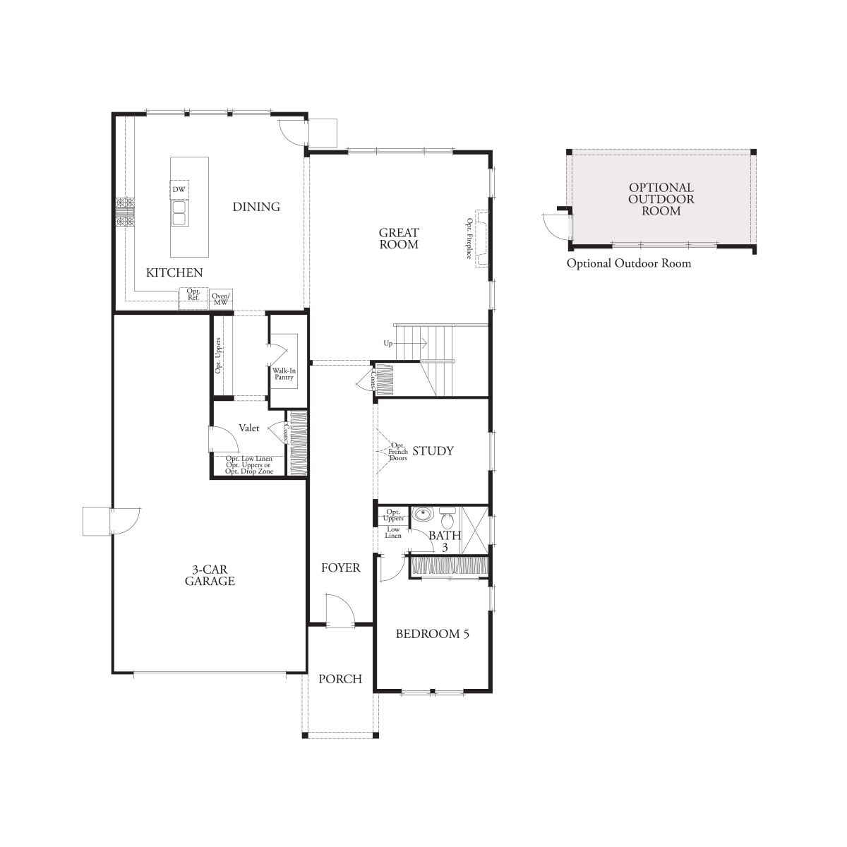 First floor residence 3 floor plan | Laurel at Emerson Ranch in Oakley, CA | Brookfield Residential