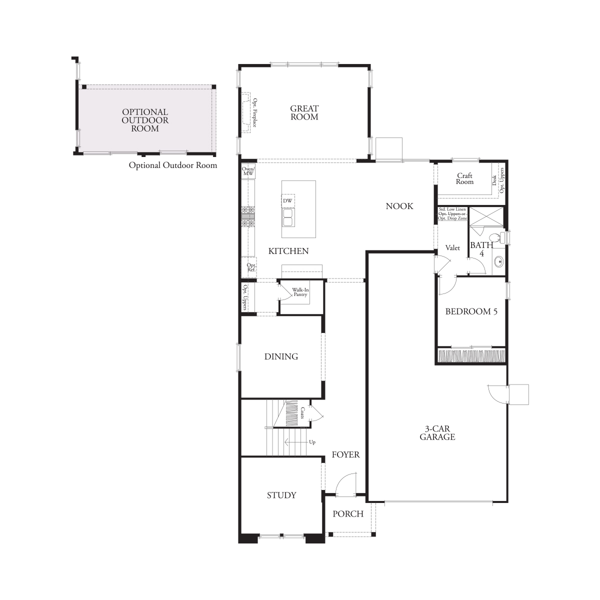 First floor residence 4 floor plan | Laurel at Emerson Ranch in Oakley, CA | Brookfield Residential