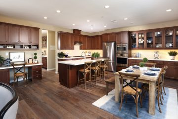 Kitchen and dining in luxury home | Merritt at Emerson Ranch in Oakley, CA | Brookfield Residential