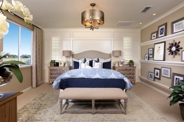 Master bedroom in luxury home | Merritt at Emerson Ranch in Oakley, CA | Brookfield Residential