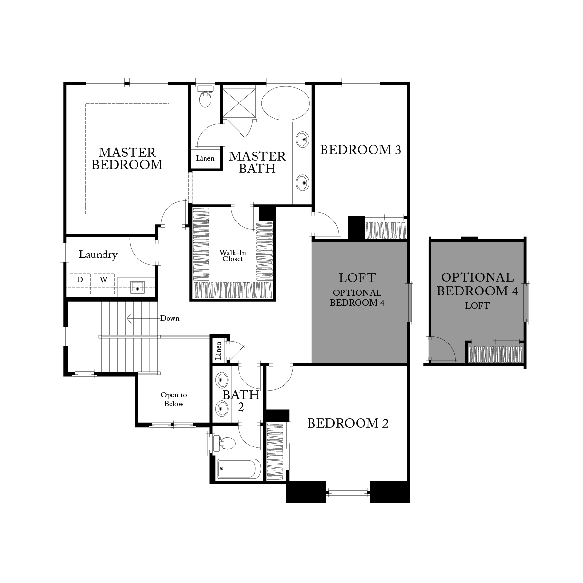 Second floor residence 2 floor plan | Ambrosia at Glen Loma Ranch in Gilroy, CA | Brookfield Residential
