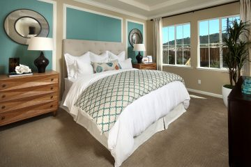 Master bedroom in luxury home | Ambrosia at Glen Loma Ranch in Gilroy, CA | Brookfield Residential