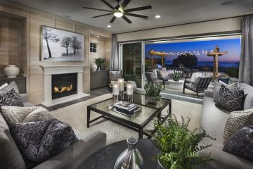 Living room in luxury home | Crown Point at Stonebrae in Hayward, CA | Brookfield Residential
