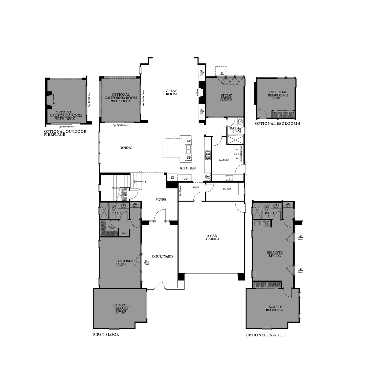 First floor residence 6 floor plan | Crown Point at Stonebrae in Hayward, CA | Brookfield Residential