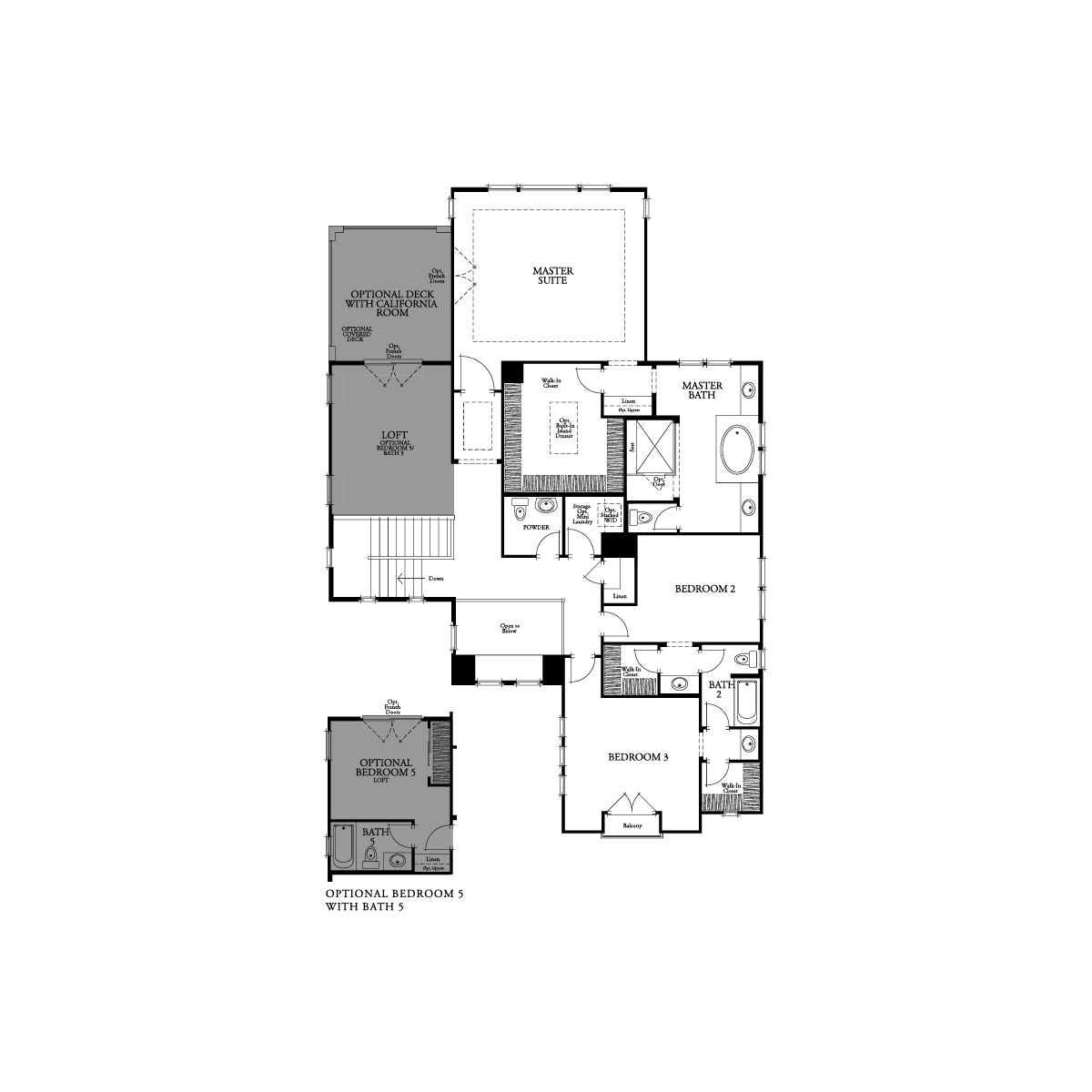Second floor residence 6 floor plan | Crown Point at Stonebrae in Hayward, CA | Brookfield Residential