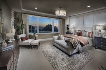Master bedroom in luxury home | Crown Point at Stonebrae in Hayward, CA | Brookfield Residential