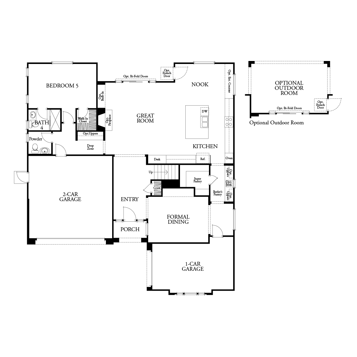 First floor residence 3 floor plan | Mataro at Glen Loma Ranch in Gilroy, CA | Brookfield Residential