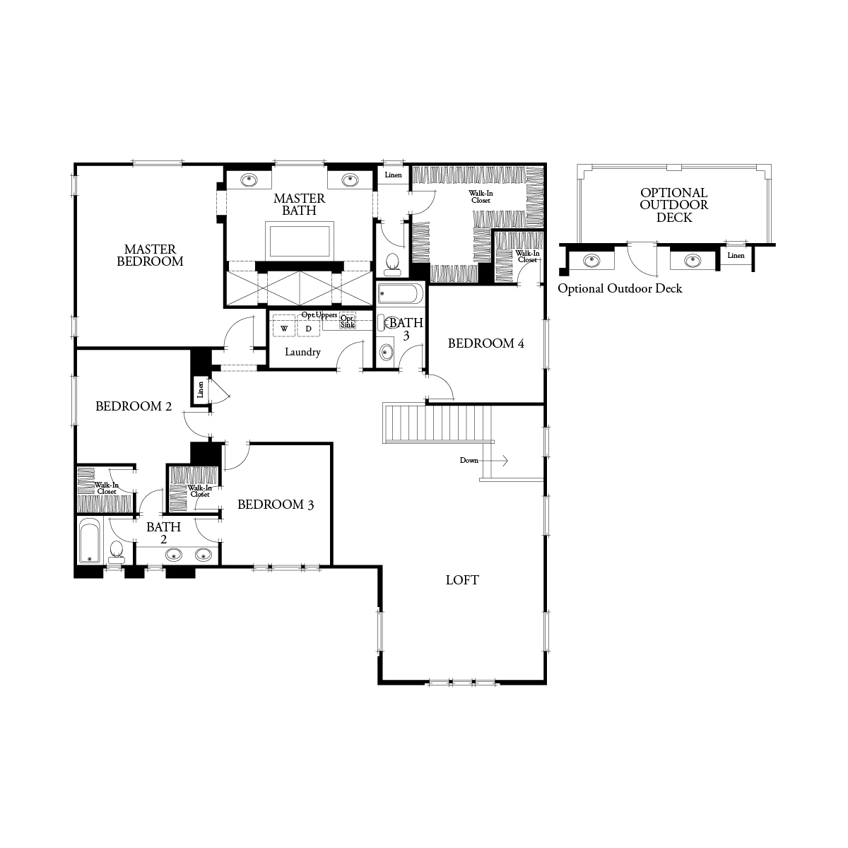 Second floor residence 3 floor plan | Mataro at Glen Loma Ranch in Gilroy, CA | Brookfield Residential