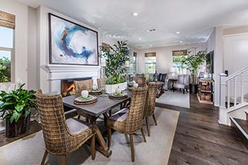 Residence 1 Dining and Family Room  | Prado at the Village of Escaya in Chula Vista, CA | Brookfield Residential