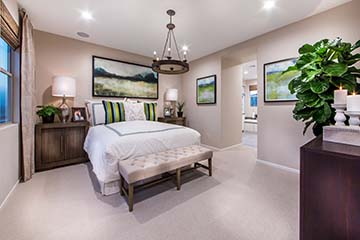 Residence 1 Master Bedroom | Prado at the Village of Escaya in Chula Vista, CA | Brookfield Residential