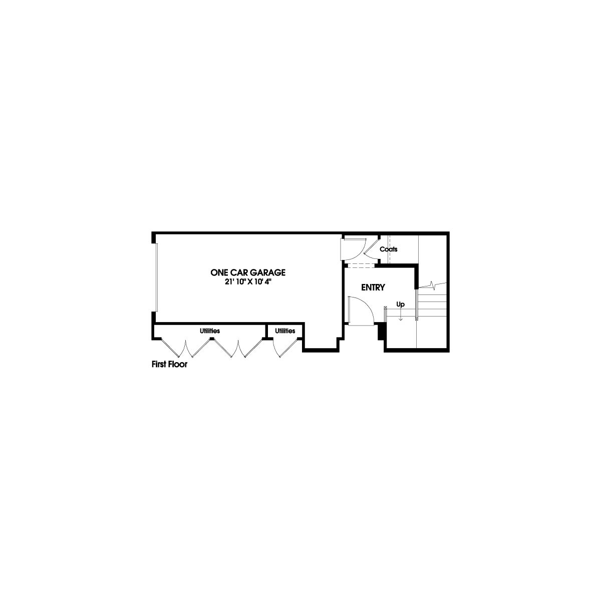 First floor residence 1 floor plan | Holiday at New Haven in Ontario Ranch, CA | Brookfield Residential