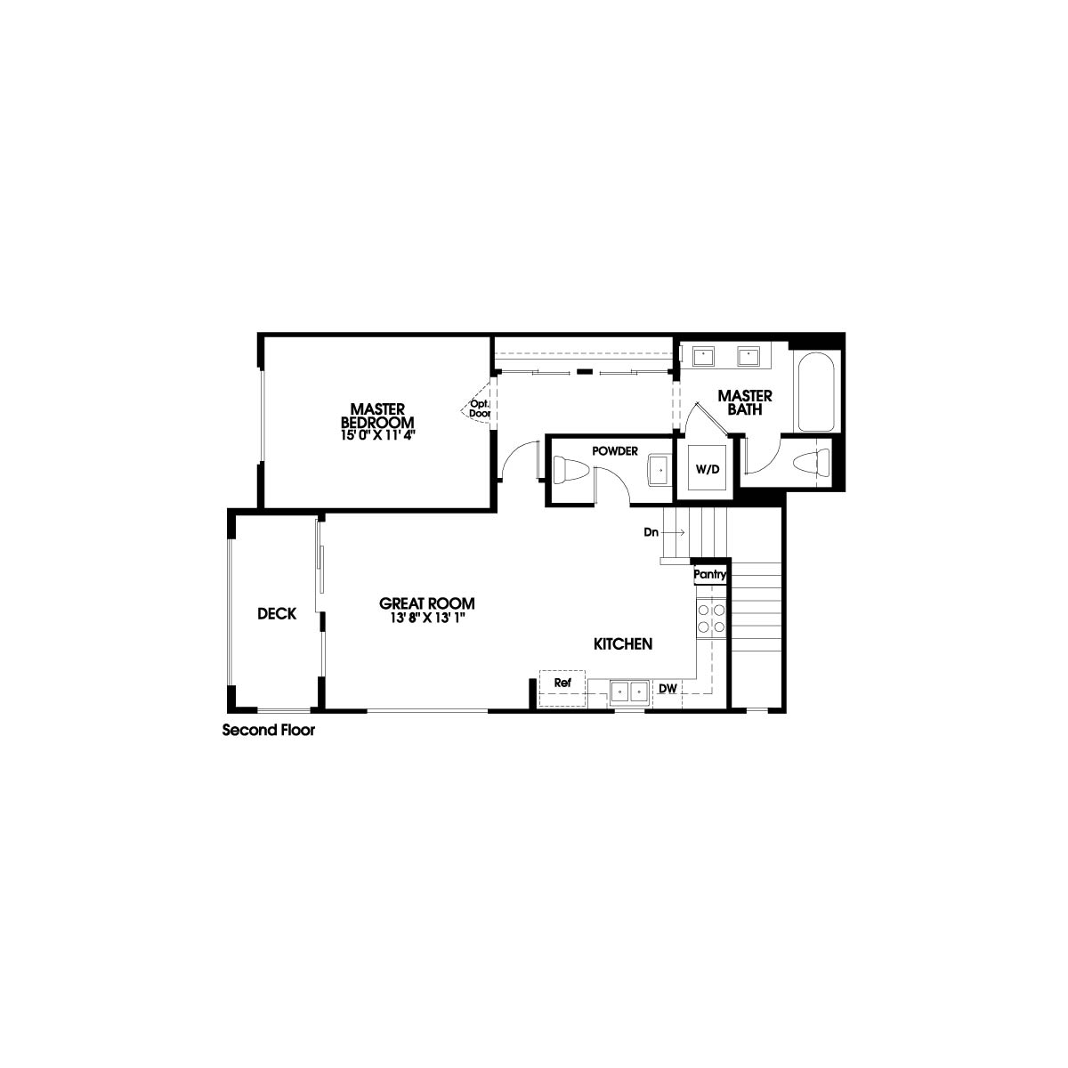 Second floor residence 1 floor plan | Holiday at New Haven in Ontario Ranch, CA | Brookfield Residential