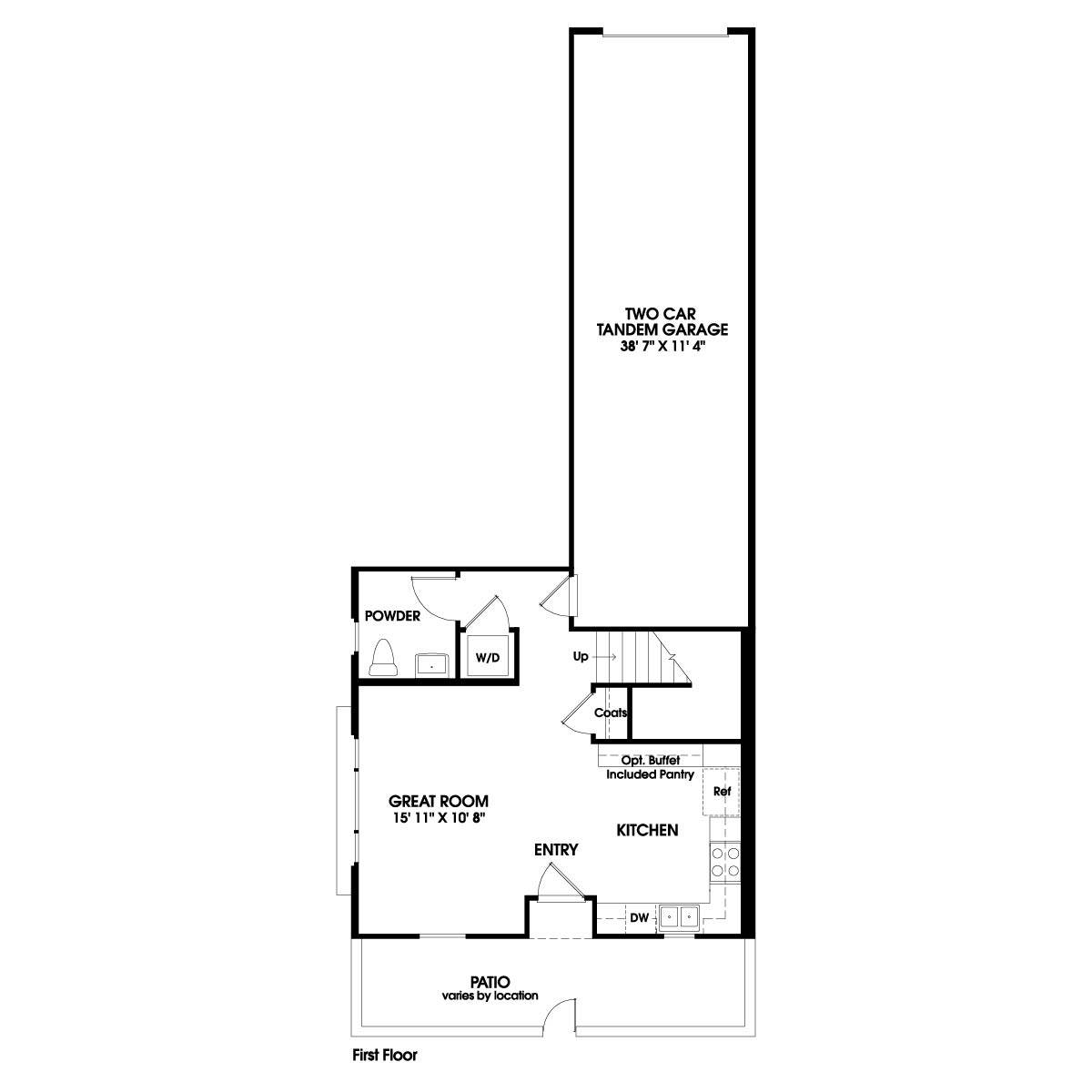 First floor residence 2 floor plan | Holiday at New Haven in Ontario Ranch, CA | Brookfield Residential