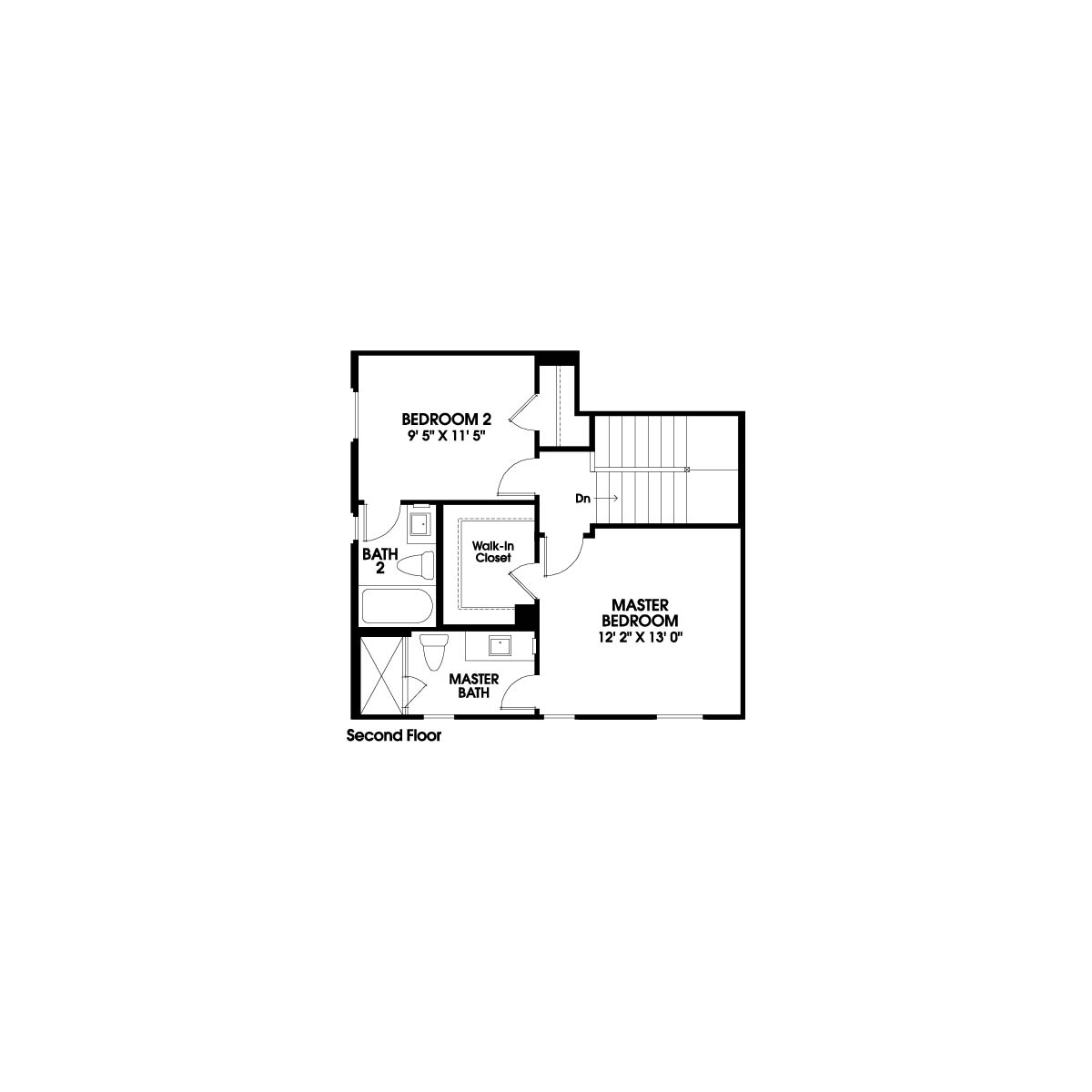 Second floor residence 2 floor plan | Holiday at New Haven in Ontario Ranch, CA | Brookfield Residential