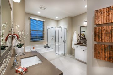 Master bathroom in luxury home | Holiday at New Haven in Ontario Ranch, CA | Brookfield Residential
