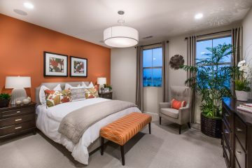 Master bedroom in luxury home | Holiday at New Haven in Ontario Ranch, CA | Brookfield Residential