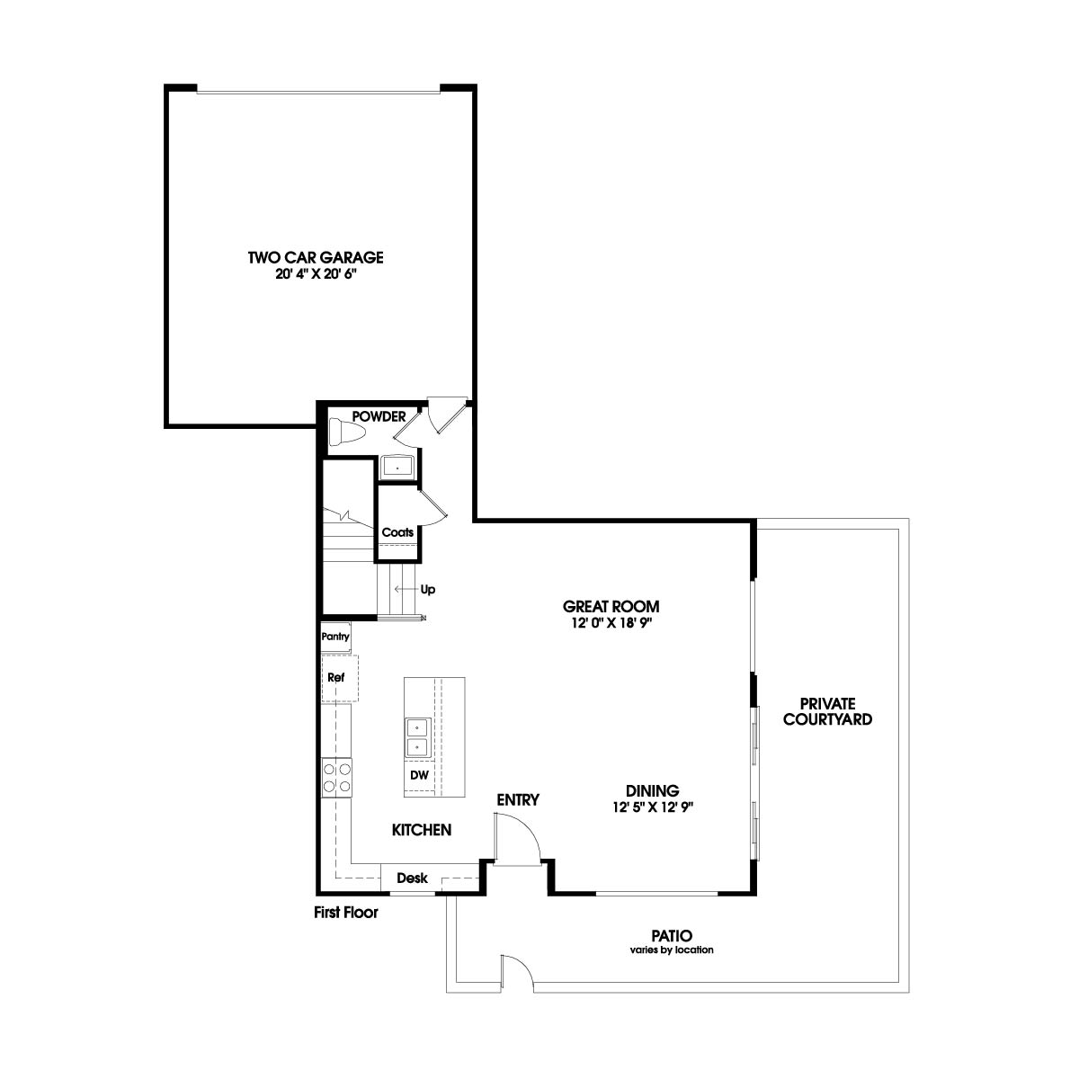 First floor residence 6 floor plan | Holiday at New Haven in Ontario Ranch, CA | Brookfield Residential