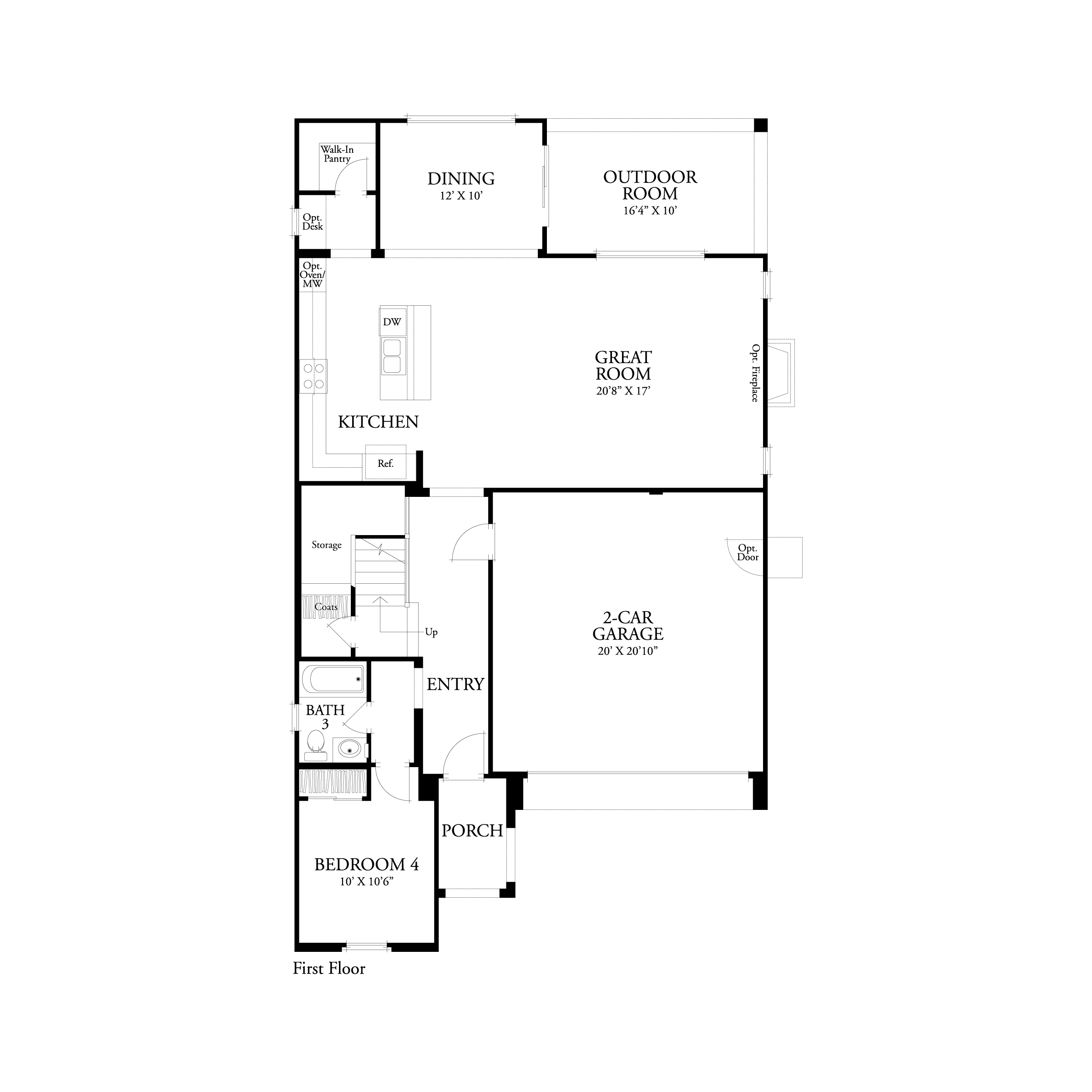 First floor residence 1 floor plan | Marigold at New Haven in Ontario Ranch, CA | Brookfield Residential