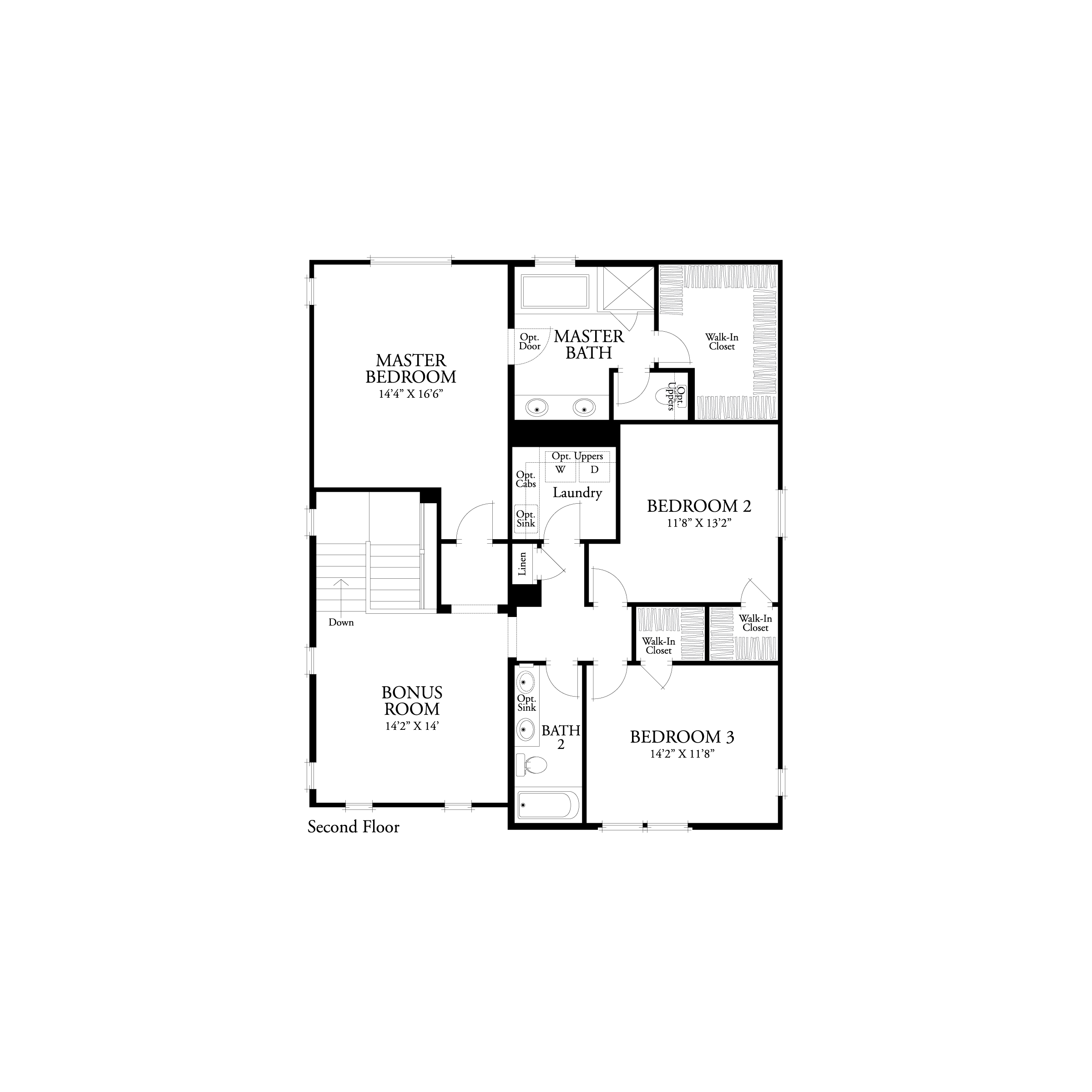 Second floor residence 1 floor plan | Marigold at New Haven in Ontario Ranch, CA | Brookfield Residential