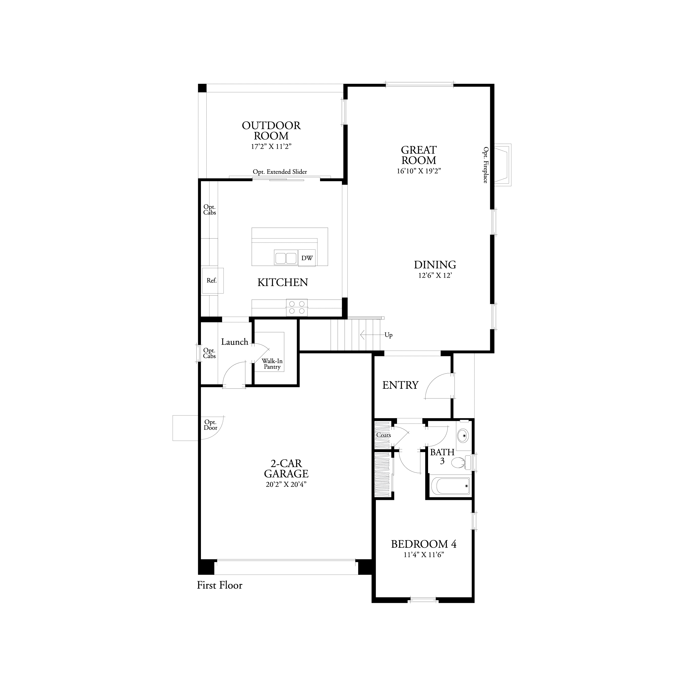 First floor residence 2 floor plan | Marigold at New Haven in Ontario Ranch, CA | Brookfield Residential