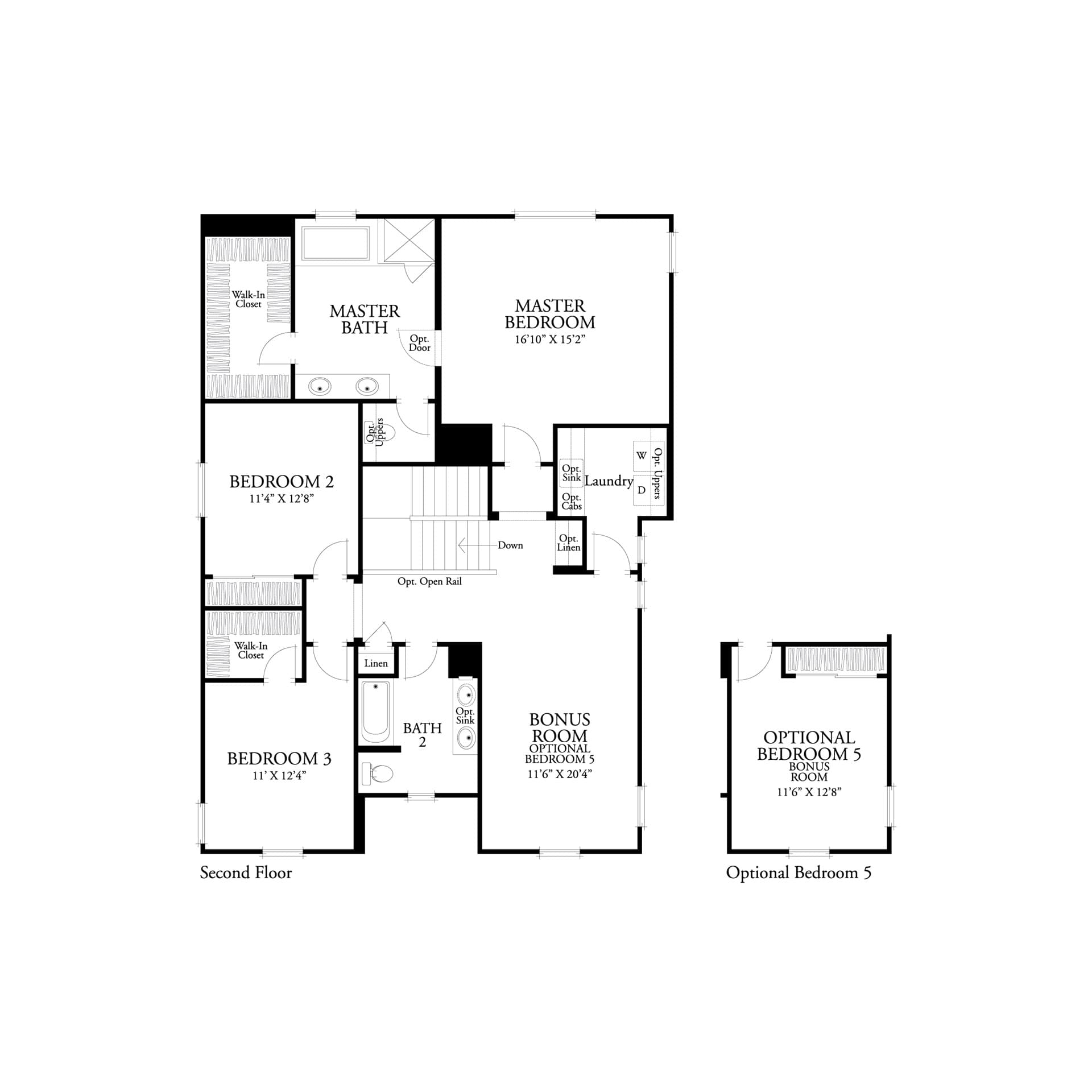 Second floor residence 2 floor plan | Marigold at New Haven in Ontario Ranch, CA | Brookfield Residential