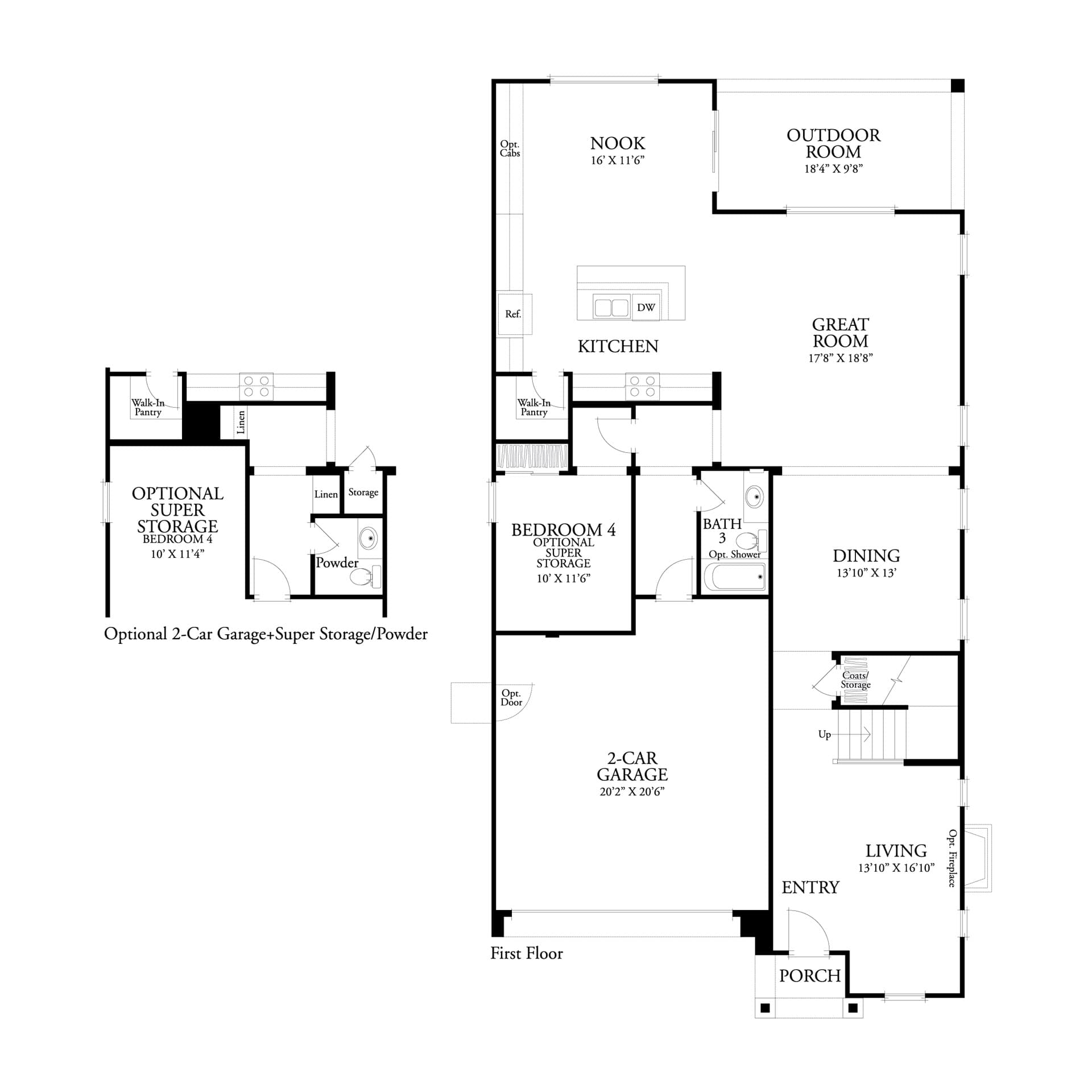 First floor residence 3 floor plan | Marigold at New Haven in Ontario Ranch, CA | Brookfield Residential