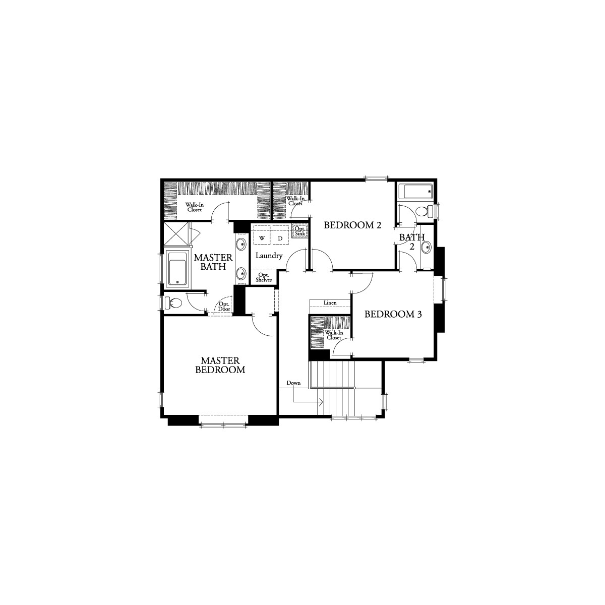 Second floor residence 1 floor plan | Waverly at New Haven in Ontario Ranch, CA | Brookfield Residential