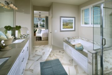 Master bathroom in luxury home | Waverly at New Haven in Ontario Ranch, CA | Brookfield Residential