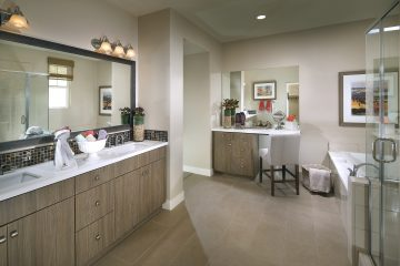 Master bathroom in new luxury home  | Waverly at New Haven in Ontario Ranch, CA | Brookfield Residential