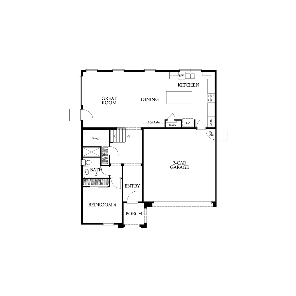 First floor residence 3 floor plan | Waverly at New Haven in Ontario Ranch, CA | Brookfield Residential