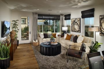 Living room in new luxury home | Waverly at New Haven in Ontario Ranch, CA | Brookfield Residential