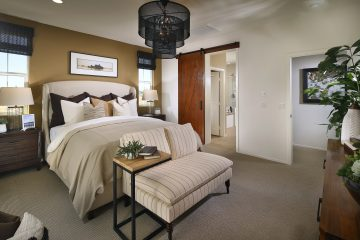 Master bedroom in new luxury home | Waverly at New Haven in Ontario Ranch, CA | Brookfield Residential