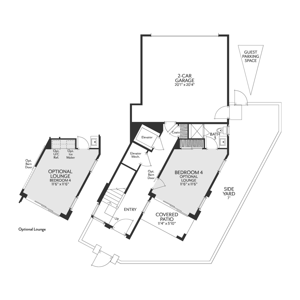 Residence 1 Floor 1 Floor Plan | The Collection at Playa Vista in Los Angeles, CA | Brookfield Residential