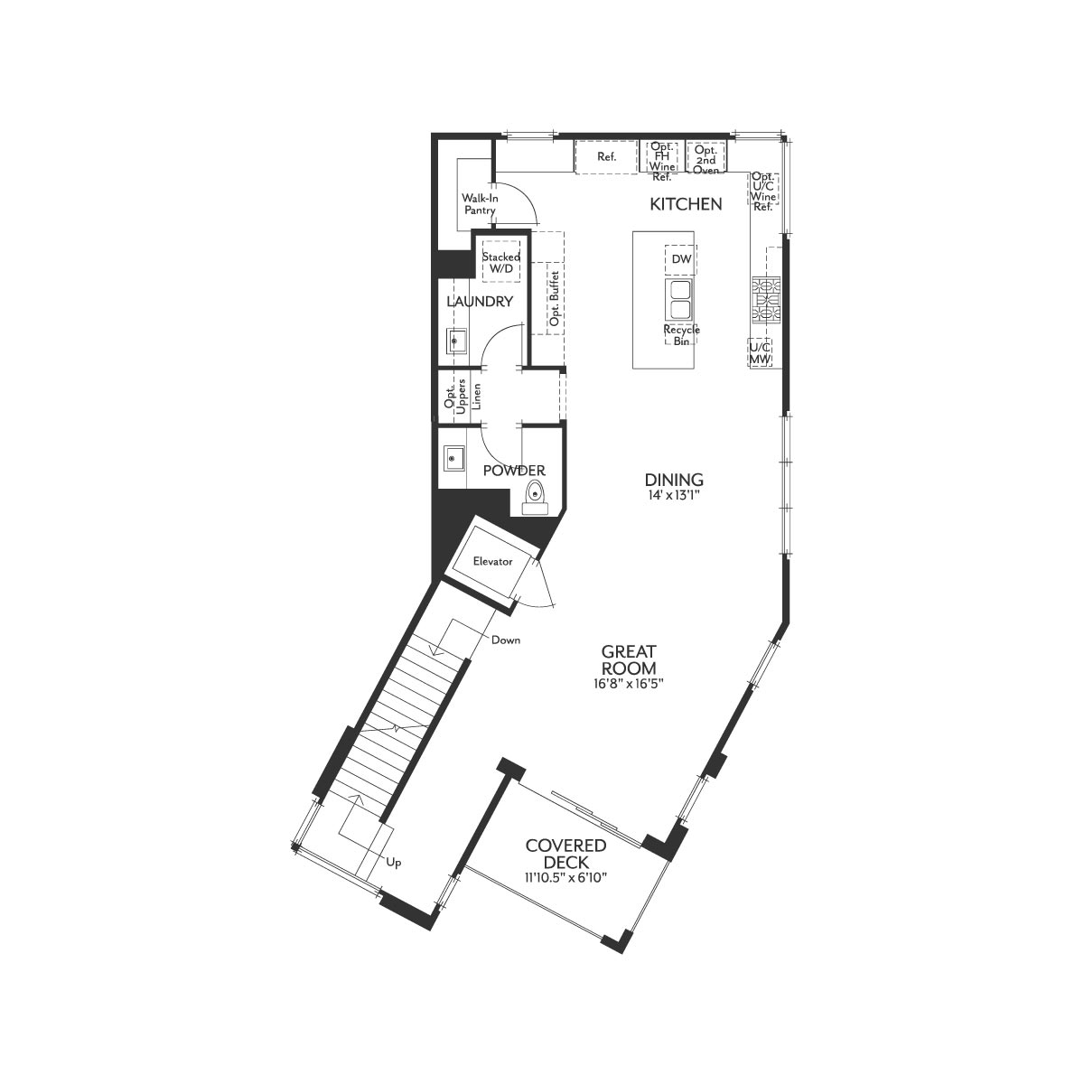 Residence 1 Floor 2 Floor Plan | The Collection at Playa Vista in Los Angeles, CA | Brookfield Residential