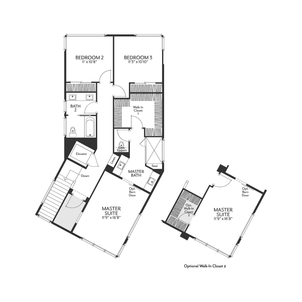 Residence 1 Floor 3 Floor Plan | The Collection at Playa Vista in Los Angeles, CA | Brookfield Residential